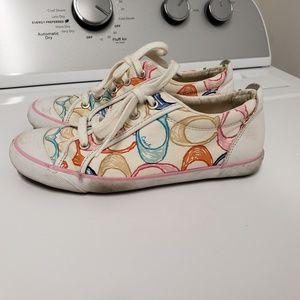 Coach sneakers scrabble tile size 8